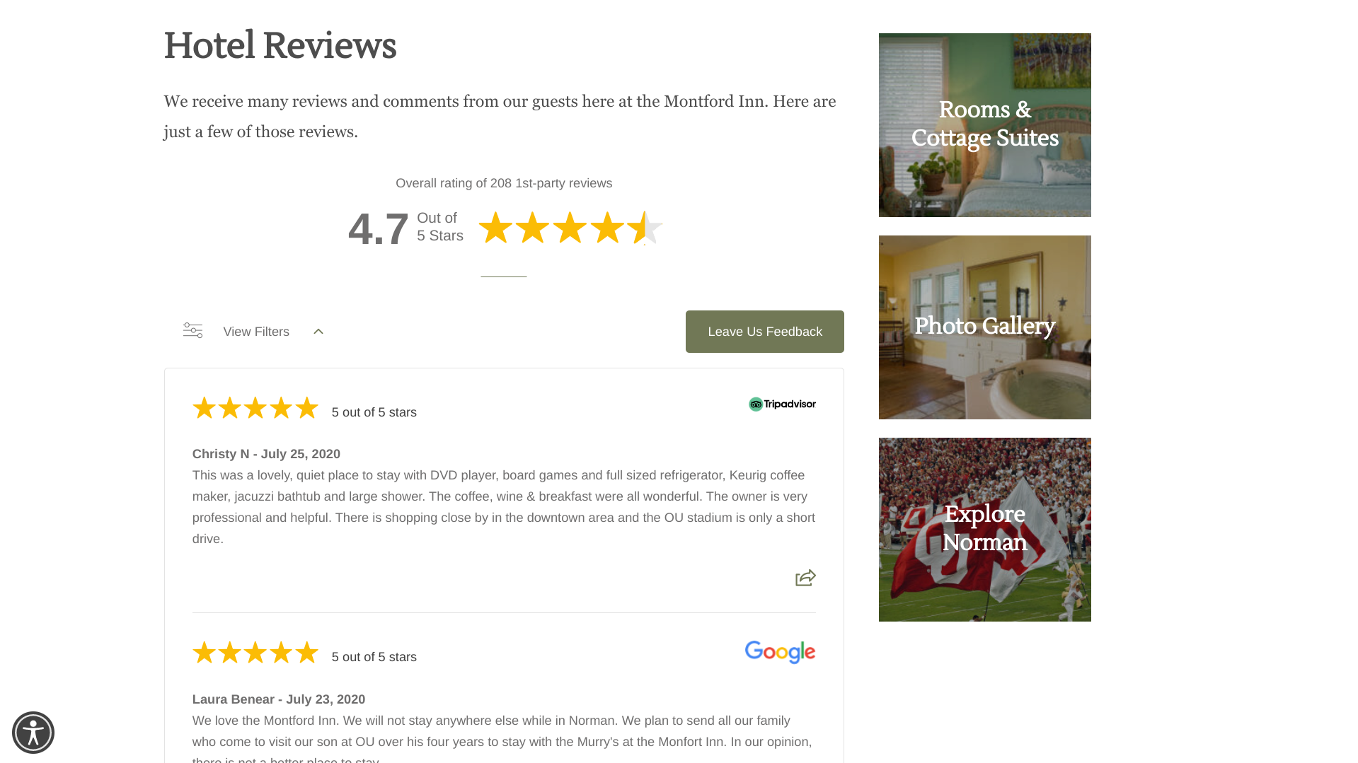 showcase the best of your online reviews with a website stream