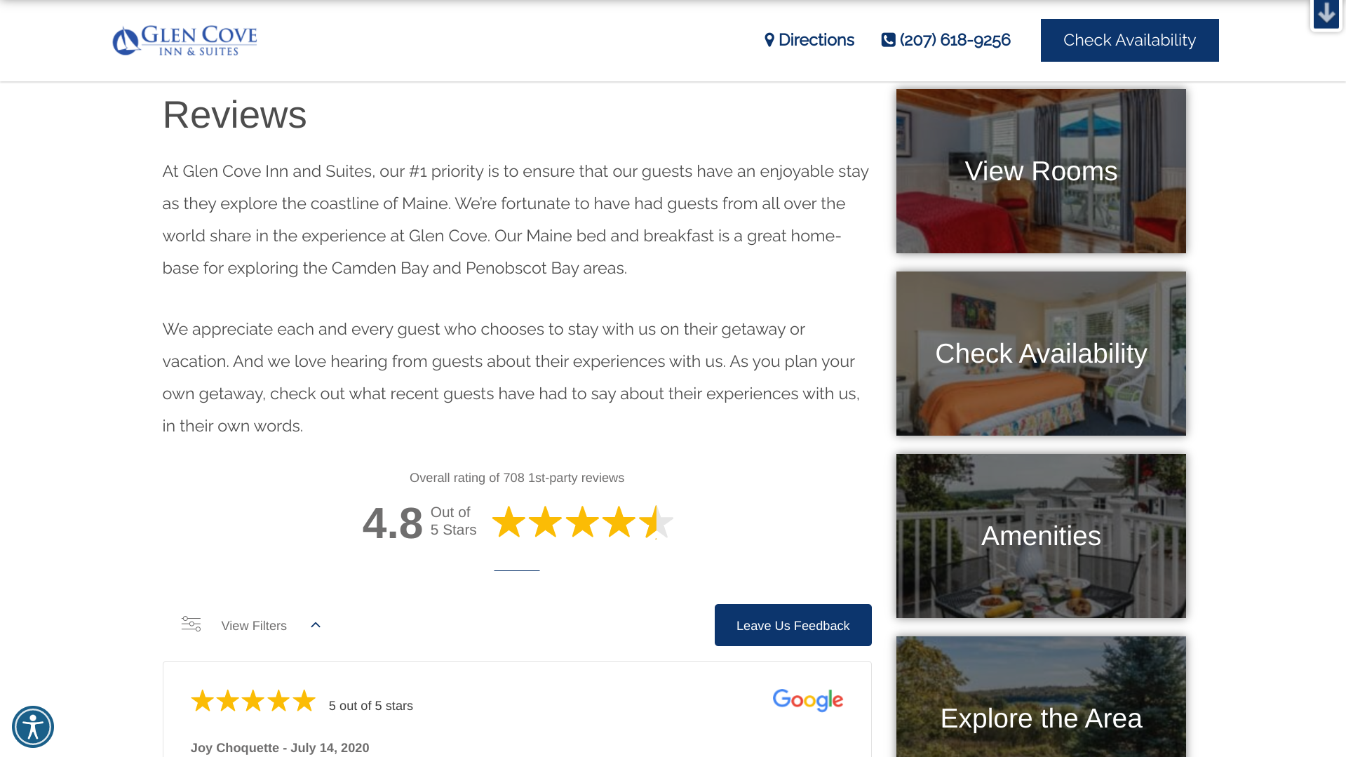 host your best reviews on your website